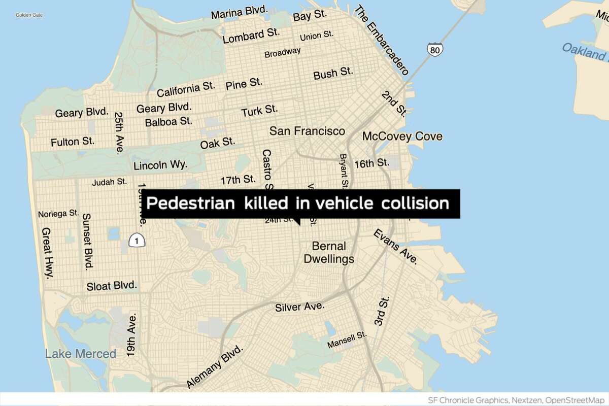 An 85-year-old man died over the weekend, four days after he was hit by a car while walking in the Mission District, San Francisco police said.