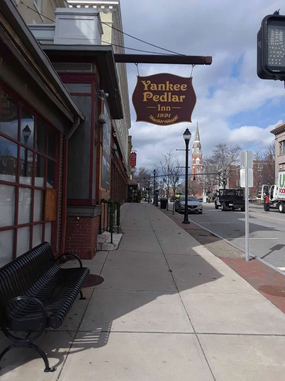 The Yankee Pedlar Inn, which was sold to Jayson Hospitality in 2014, remains shuttered on Main Street.