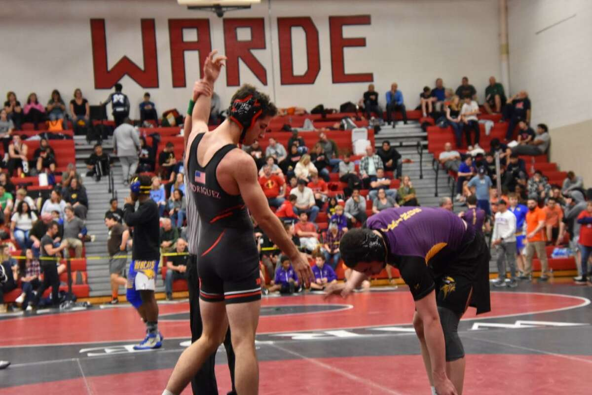 Sean Rodriguez (left) is among the Fairfield Warde wrestlers who will miss out on their senior season.