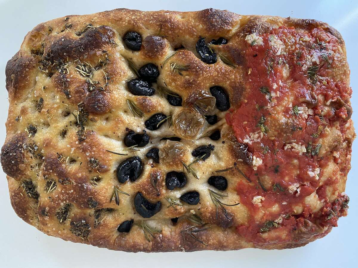 For a story on the focaccia popup explosion in SF, here is focaccia from Weirdough.