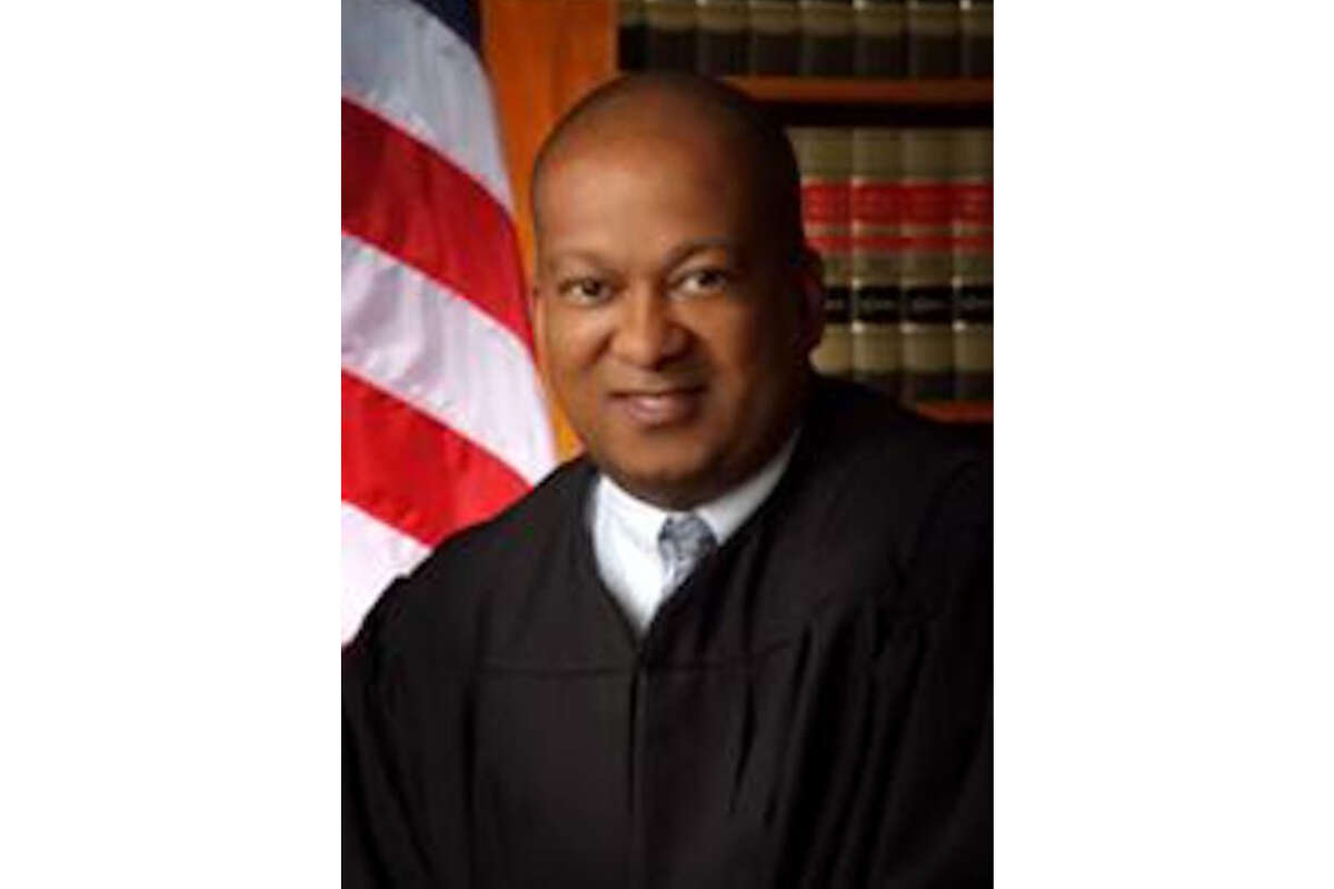 FILE-- Justice Jeffrey Johnson of the Second District Court of Appeal in Los Angeles. California's judicial disciplinary agency has accused Johnson on Monday of sexually harassing and groping a fellow justice, harassing attorneys, court staff and a California Highway Patrol officer, and repeatedly appearing drunk in public.