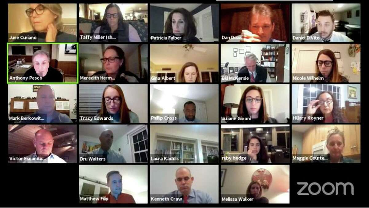 The Weston Board of Education held a virtual public forum on Tuesday to field questions from residents on the budget process. Taken Jan. 26, 2021.