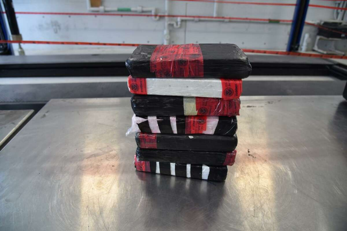 U.S. Customs and Border Protection officers seized these seven packages of cocaine from a Rio Bravo resident. The contraband had an estimated street value of $130,900.