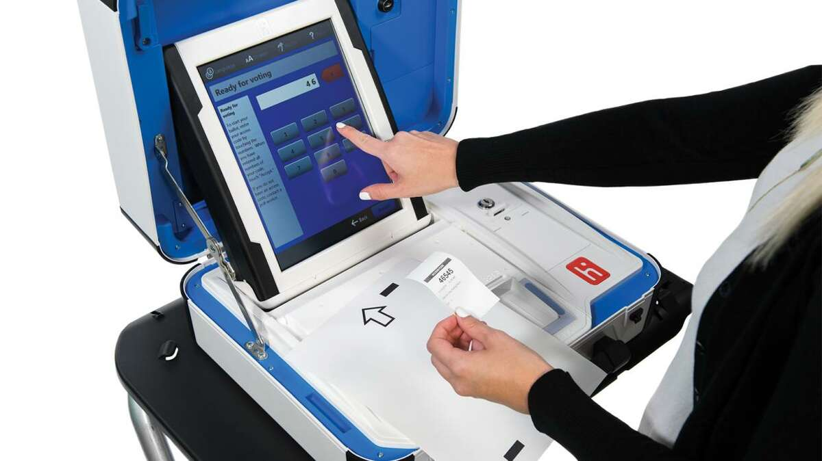 Goodbye wheel. Harris County Commissioners Court voted this week to spend $54 million on new voting machines. The Verity Voting system is made by Hart InterCivic, the same manufacturer as the eSlate system the county has used since 2002.