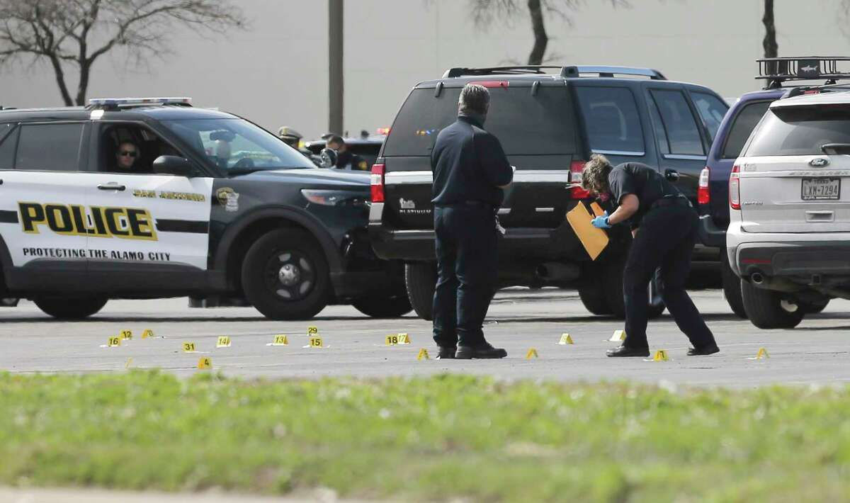 Four San Antonio police officers fatally shot a man who had purportedly displayed a gun inside South Park Mall on Wednesday, Jan. 27, 2021. The man had been driving a big rig when he was pulled over on Interstate 35. He took off and dashed toward the mall. He was killed in a parking lot.