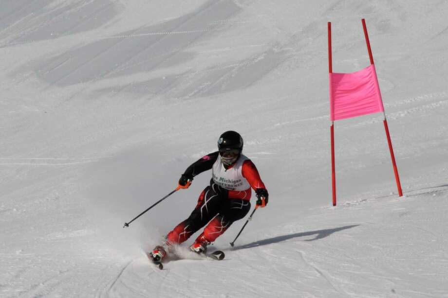 Hannah Kistler races down the giant slalom course on Jan. 25. (Record Patriot file photo)