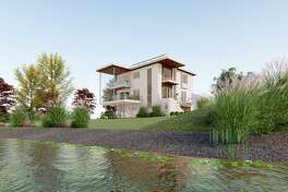 Architect Leigh Overland is building his own futuristic home on Ash Creek in Fairfield. The home has insulated foam concrete walls, (ICF), no wood framing, exterior walls, a LiteDeck floor, factory fabricated metal stud interior walls, and a second floor system, a structural insulated panel, (SIP), roof, infloor radiant heat, and cooling, and triple pane European windows.