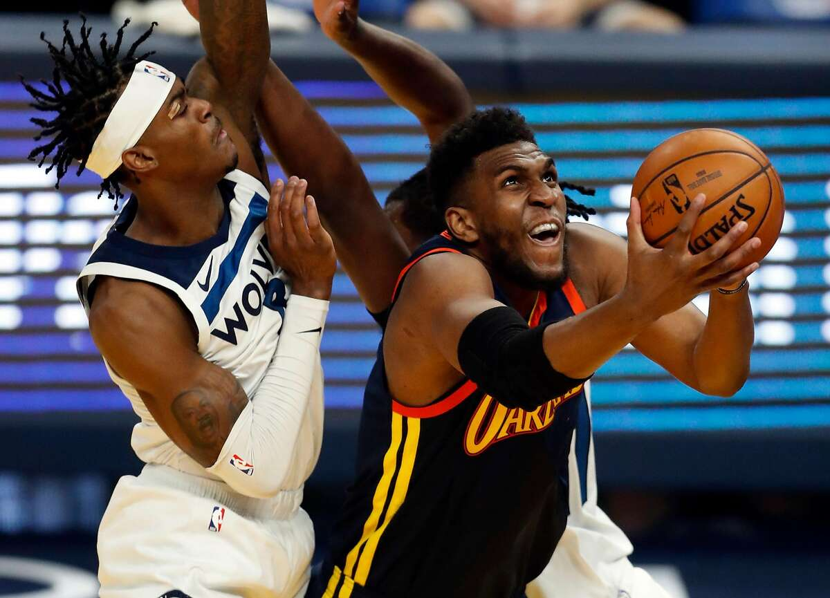 Warriors' center Kevon Looney's 31 minutes of play Monday were his most since the 2019 playoffs.