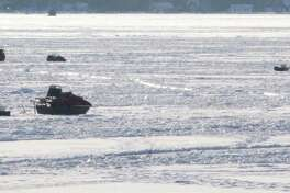 Ice fishing surfaces in the area in some places are around six inches thick. Anglers should always exercise caution. (Star file photo)