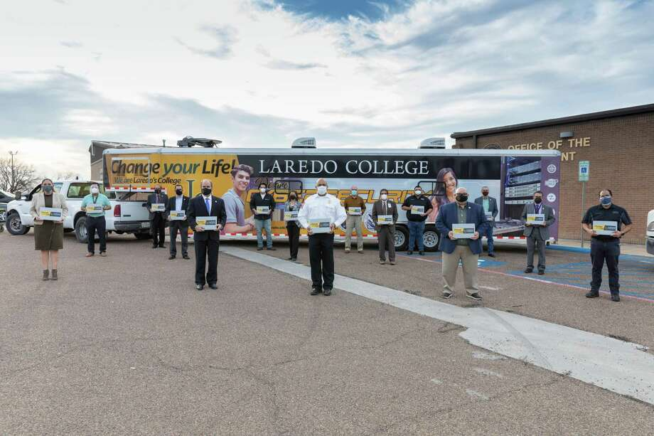 Laredo College is providing 30 laptops to the City of Laredo to use in processing vaccination services. Photo: Courtesy /Laredo College