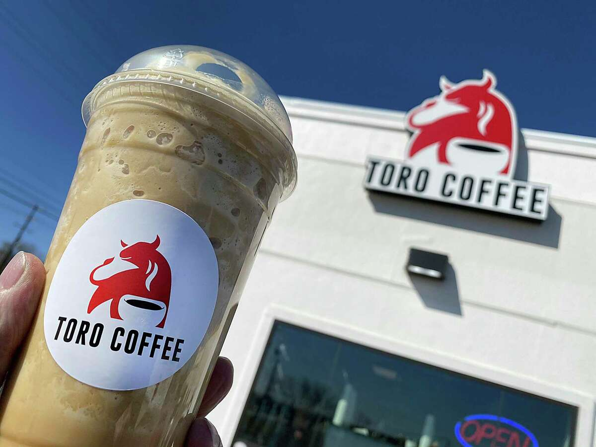 Toro Coffee on Walzem Road is a drive-thru coffee stand where the menu includes a Tropical Toro blended with espresso, white chocolate, macadamia nut and coconut.