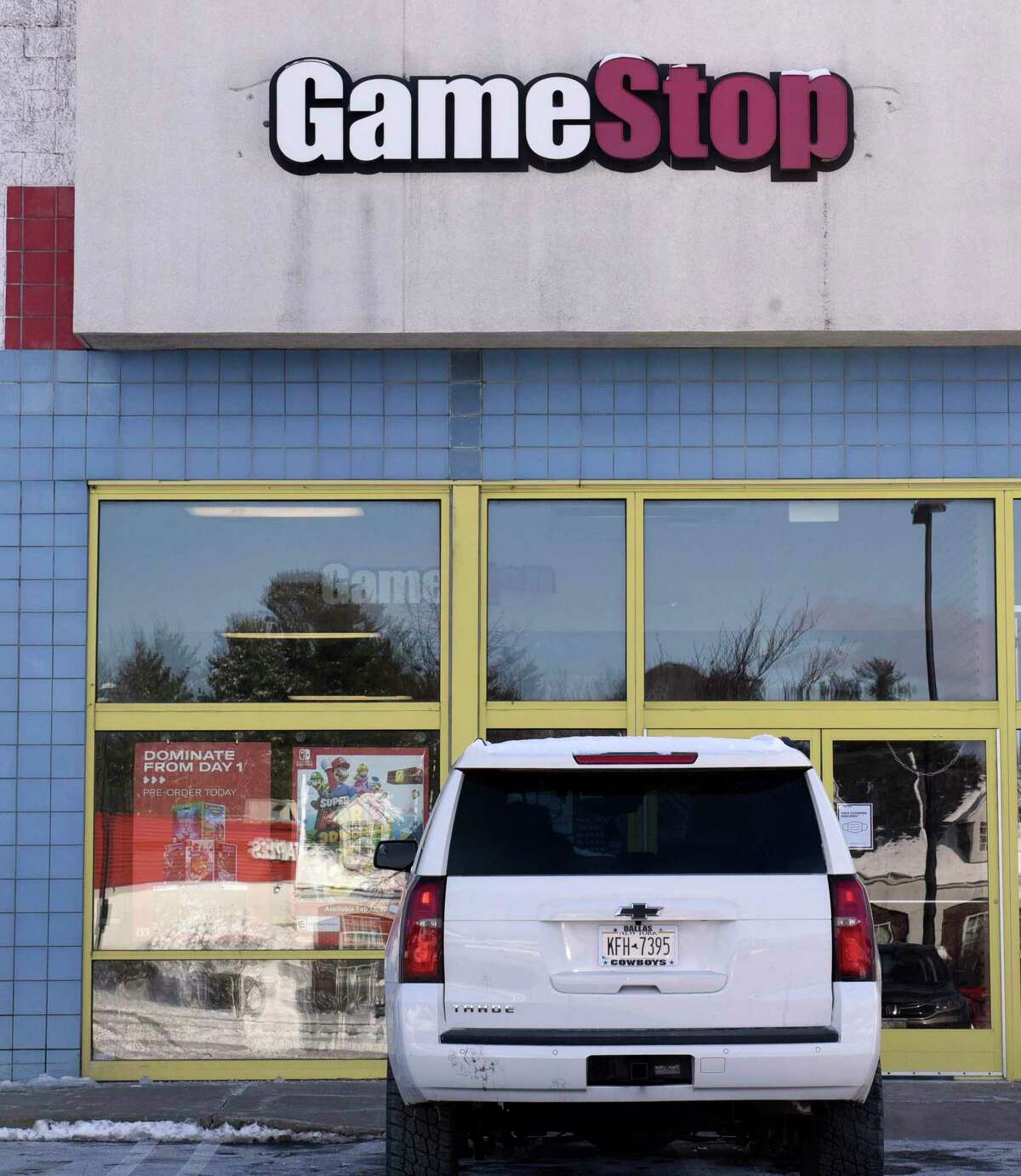 Exterior of GameStop at the Northway Shopping Center on Thursday, Jan. 28, 2021 in Albany, N.Y. (Lori Van Buren/Times Union)
