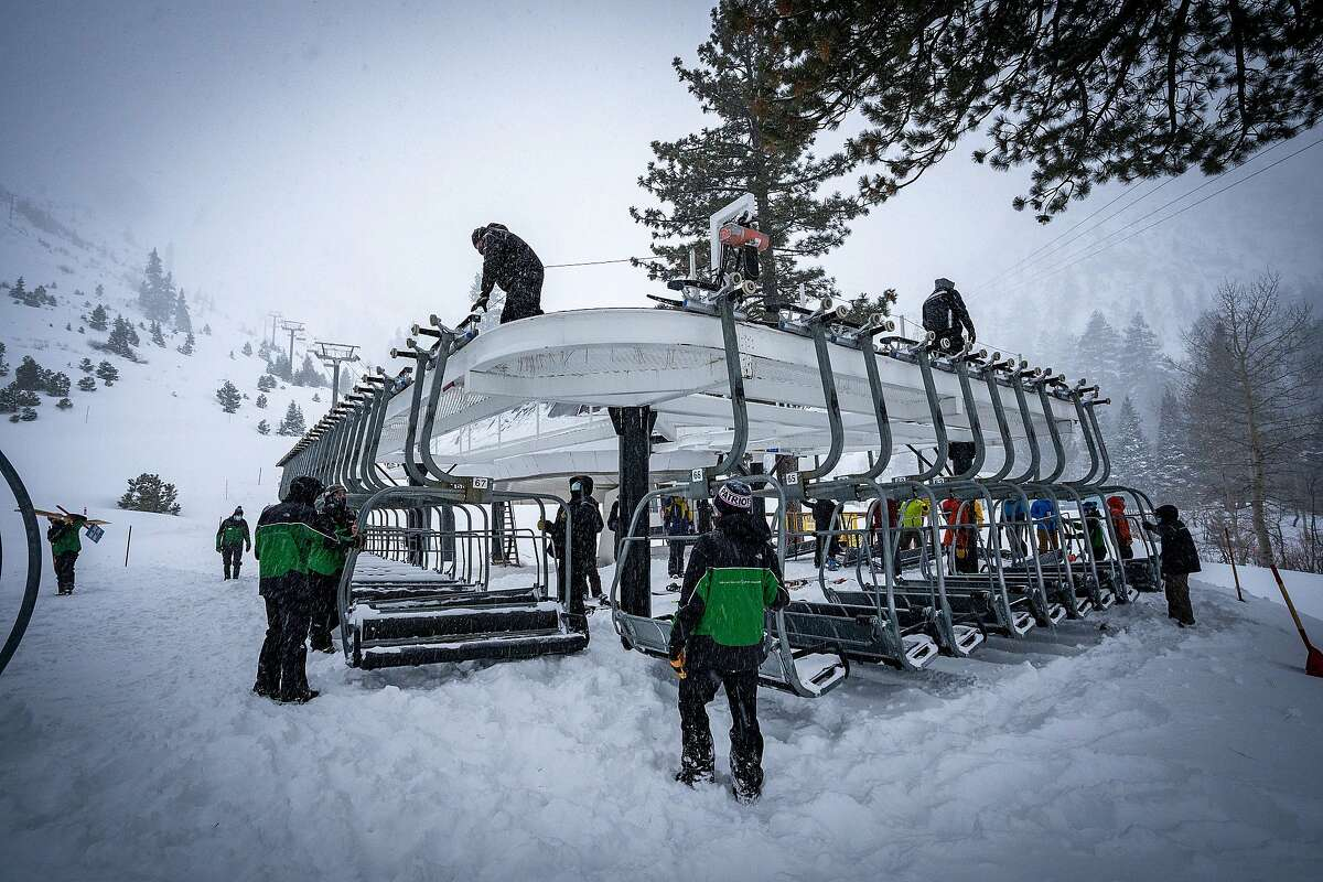 A chairlift at Squaw Valley on the morning of Wednesday, Jan. 27.