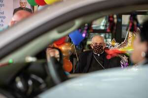 Archbishop Joseph A. Fiorenza celebrated his 90th birthday this month, with a surprise (drive-thru) bash orchestrated by friends.