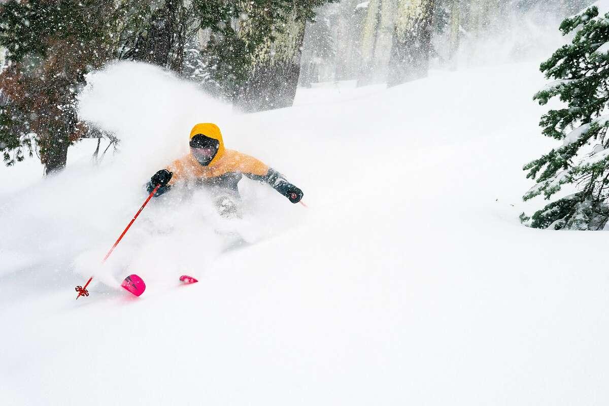 A skier at Sierra-at-Tahoe.