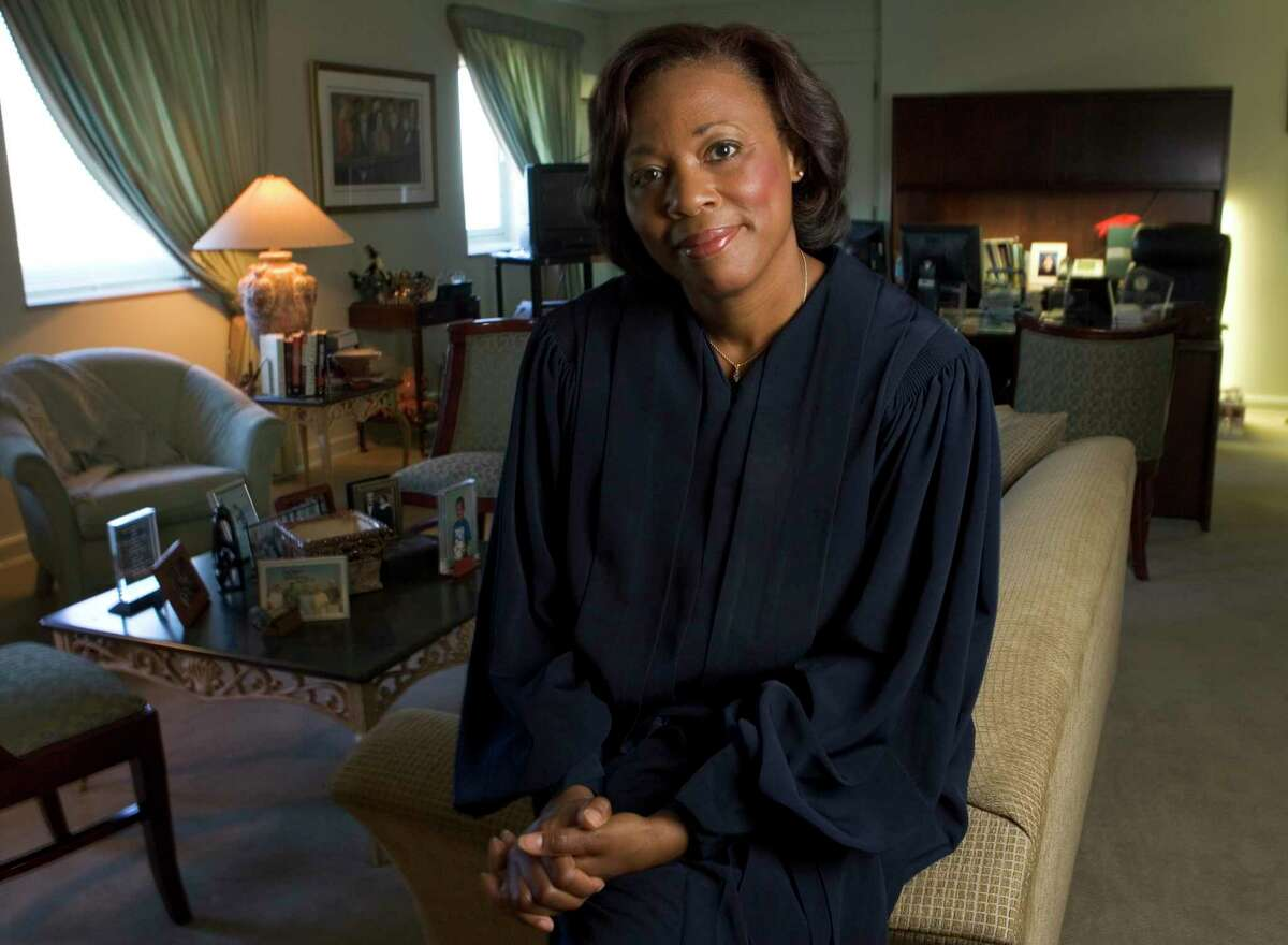 Vanessa D. Gilmore, United States District Judge for the Southern District of Texas, in her chambers at the Federal Courthouse Wednesday, Sept. 20, 2006, in Houston.