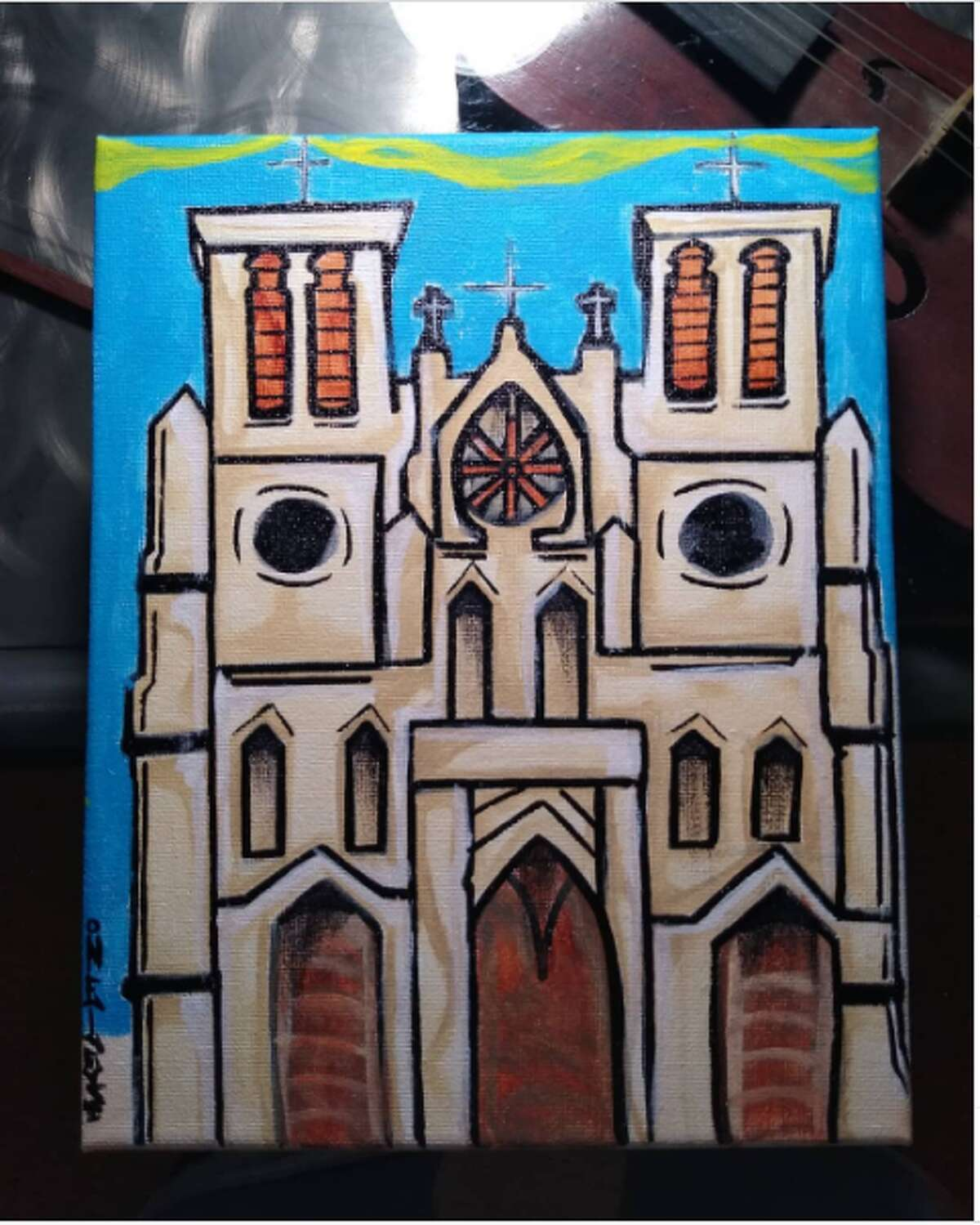 NELOS @whata_kingdom If you grew up appreciating the colorful aesthetic of tagging around town, local artist Nelos will hit you in the feels. With bright tagging and paintings of Alamo City landmarks, his feed will be a nice dose of nostalgia.