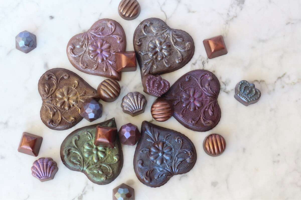 """Make-your-own chocolate Forget buying a box of chocolates. Make one, instead. The chocolatier at Westport's Le Rouge by Aarti is putting together a Zoom class for Valentine's Day. The 1.5-hour-long class is """"a couple's activity, playing with one of the favorite foods on Valentine's,"""" said Aarti Khosla, the artisan chocolatier and owner of Le Rouge. Khosla will send out all materials as well as a sleeve of """"hot chocolate bombes"""" to enjoy while learning how to temper the chocolate and form it into heart-shaped bars. $150 per couple; sign up online."""