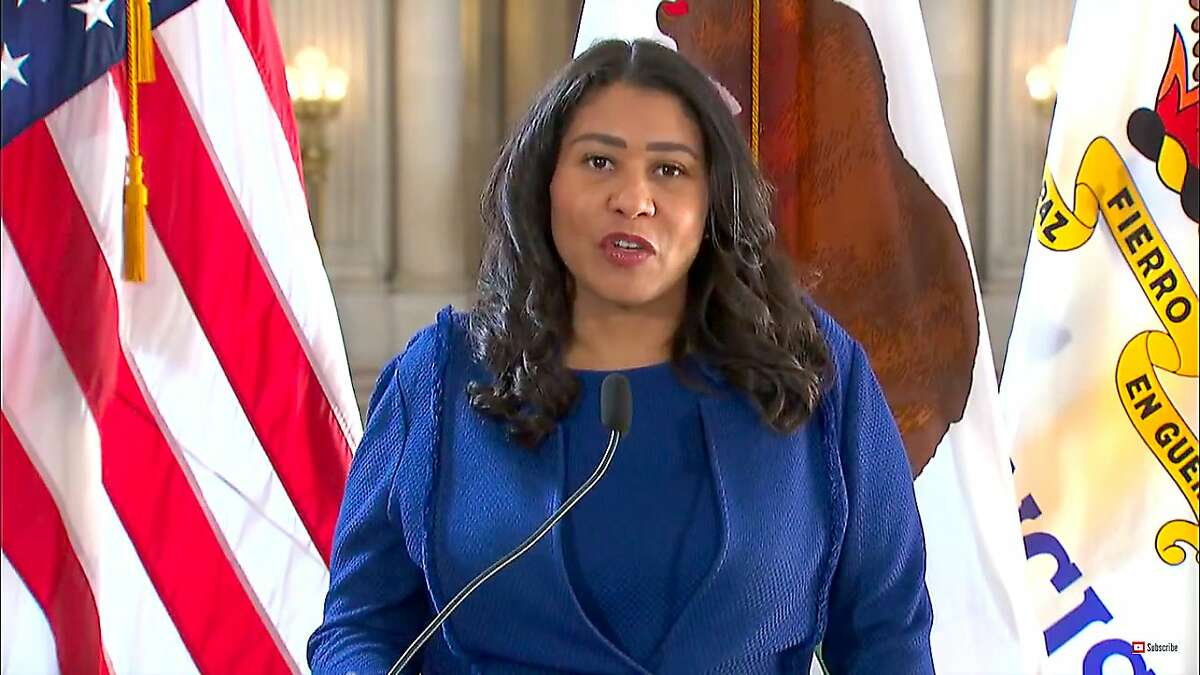San Francisco Mayor London Breed speaks at a press briefing about the coronavirus on Monday, Nov. 16.