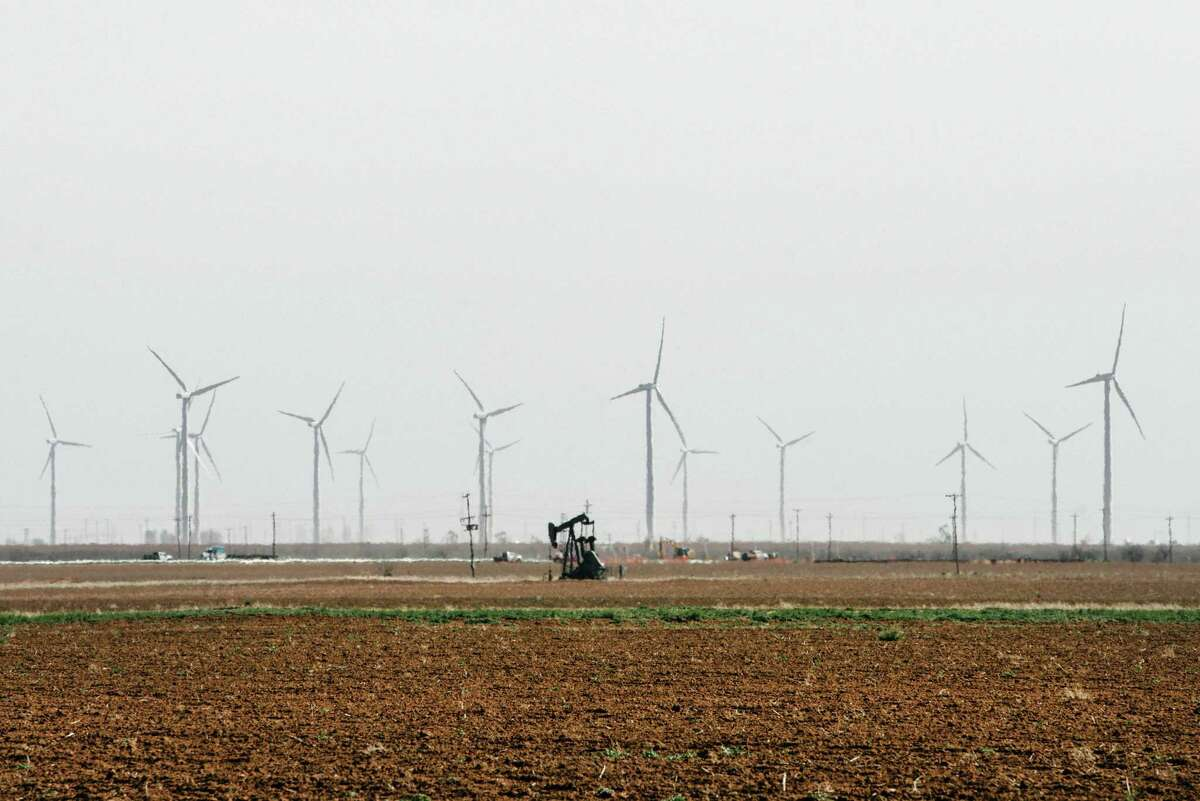 FILE -- Invenergy's Stanton Wind Energy Center in West Texas on Feb. 21, 2019. An official with the Electric Reliability Council of Texas said Tuesday afternoon that 16 gigawatts of renewable energy generation, mostly wind generation, were offline. Nearly double that, 30 gigawatts, had been lost from thermal sources, which includes gas, coal and nuclear energy.