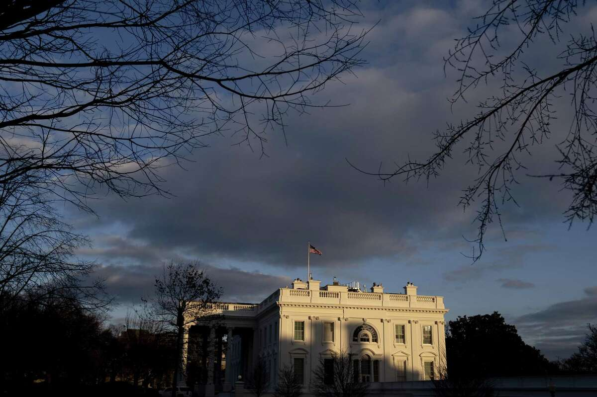 The White House in Washington, D.C., U.S., on Wednesday, Jan. 27, 2021. President Joe Biden signed a series of directives to combat climate change that he presented as a boost for U.S. employment, arguing that improvements in infrastructure and technology to curb global warming will add millions of jobs.
