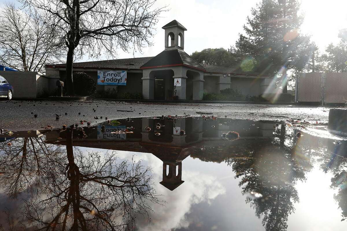A puddle in a parking lot from the storm reflects the clearing weather and sun in the morning on Wednesday. Rain returned on Thursday. The storm system that saturated the Bay Area and blanketed Tahoe and the Sierras with snow was expected to taper off by midday Friday, meteorologists said.