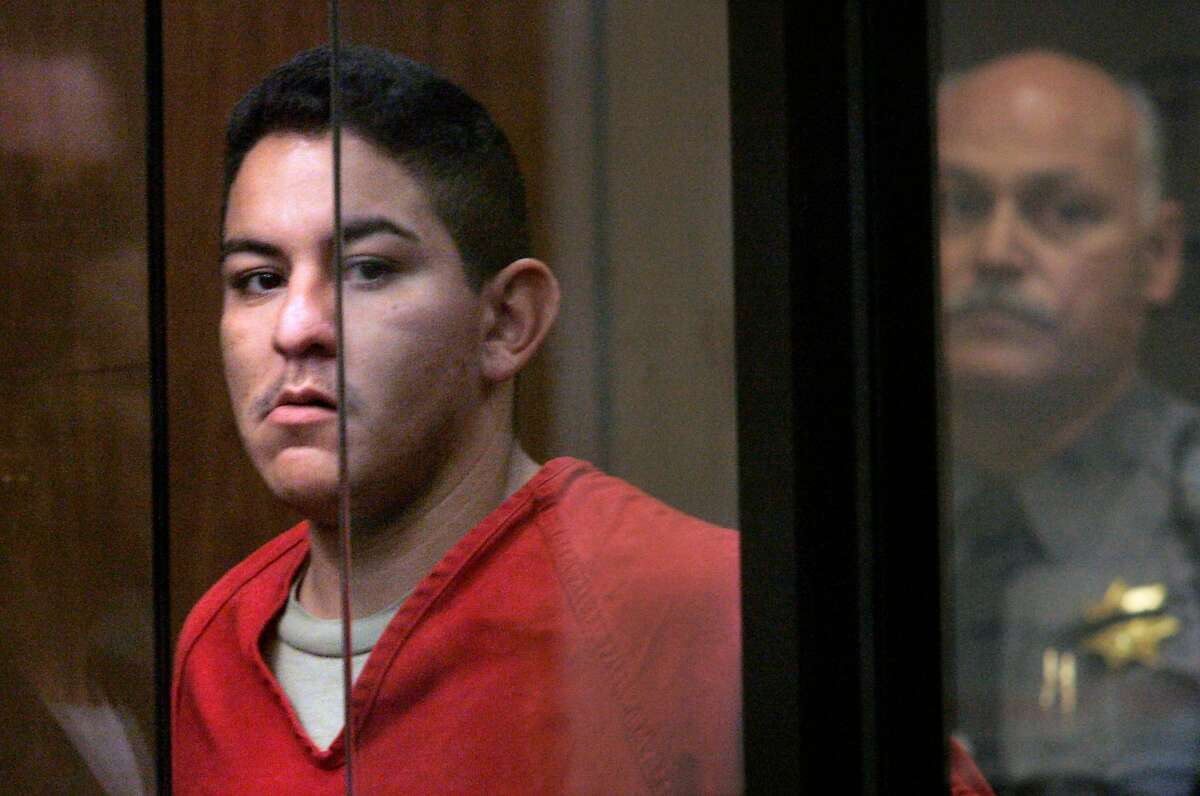 Irving Ramirez before his trial for the killing of San Leandro police officer Nels