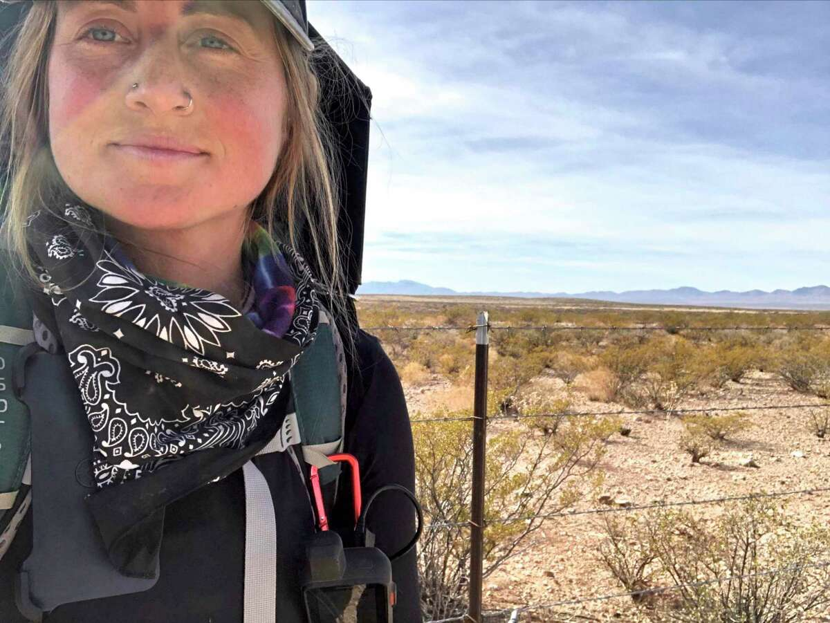 Hannah Bacon, 27, of New Milford is in the process of walking across the country after losing her job during the pandemic. The UConn graduate, who worked in the environmental field, is walking to raise awareness for climate change and raise money for Sunrise Movement, a youth-led grassroots organization pushing forward a nation-wide policy on renewable energy.