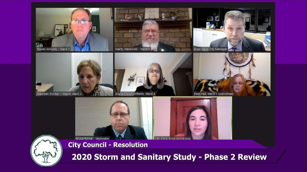 Midland City Council met virtually on Monday, Jan. 25, 2020. (Screen photo/MCTV)