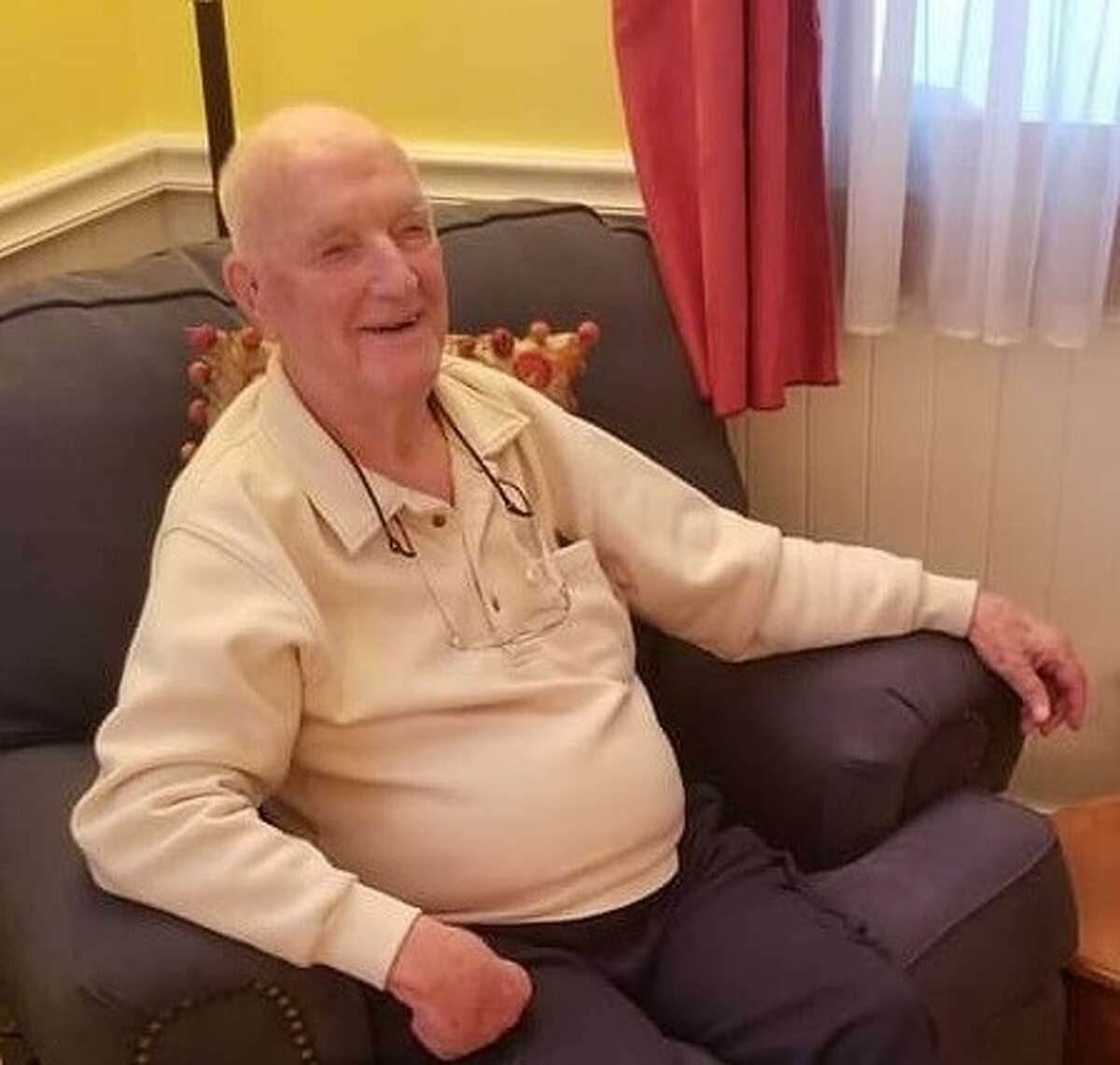 """On January 28, 2021, John Russell """"Russ"""" Elmore, a resident of Diamond Ridge independent senior living in Troy, New York, marked a century of life."""