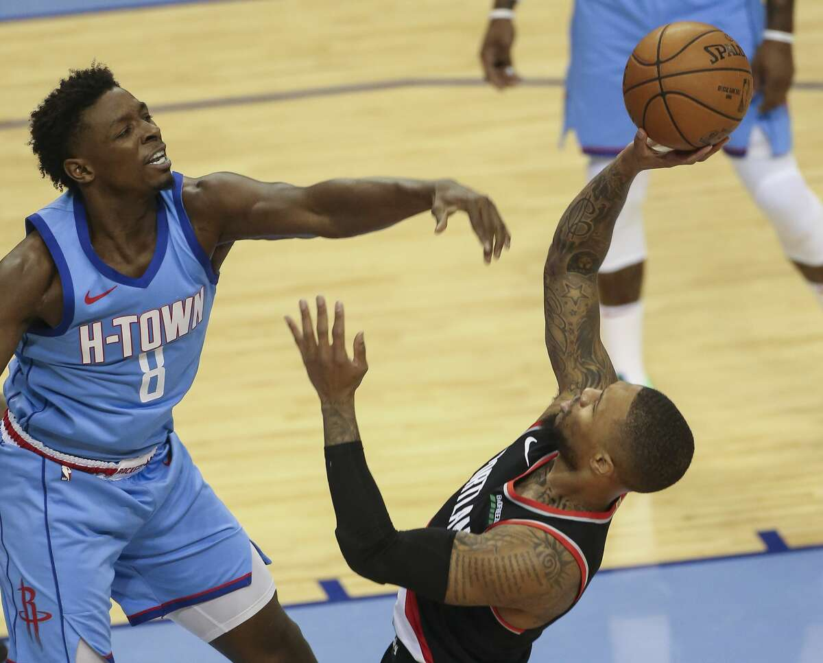 His play at both ends of the floor has gotten Rockets rookie Jae'Sean Tate attention around the NBA this season.