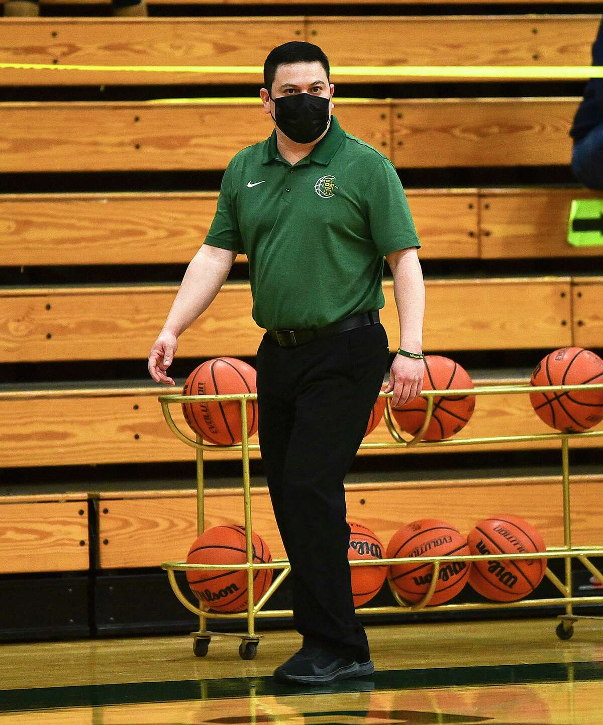 Nixon head coach Pete Solis and other Laredo coaches have gone causal this year with their attire due to the COVID-19 pandemic.