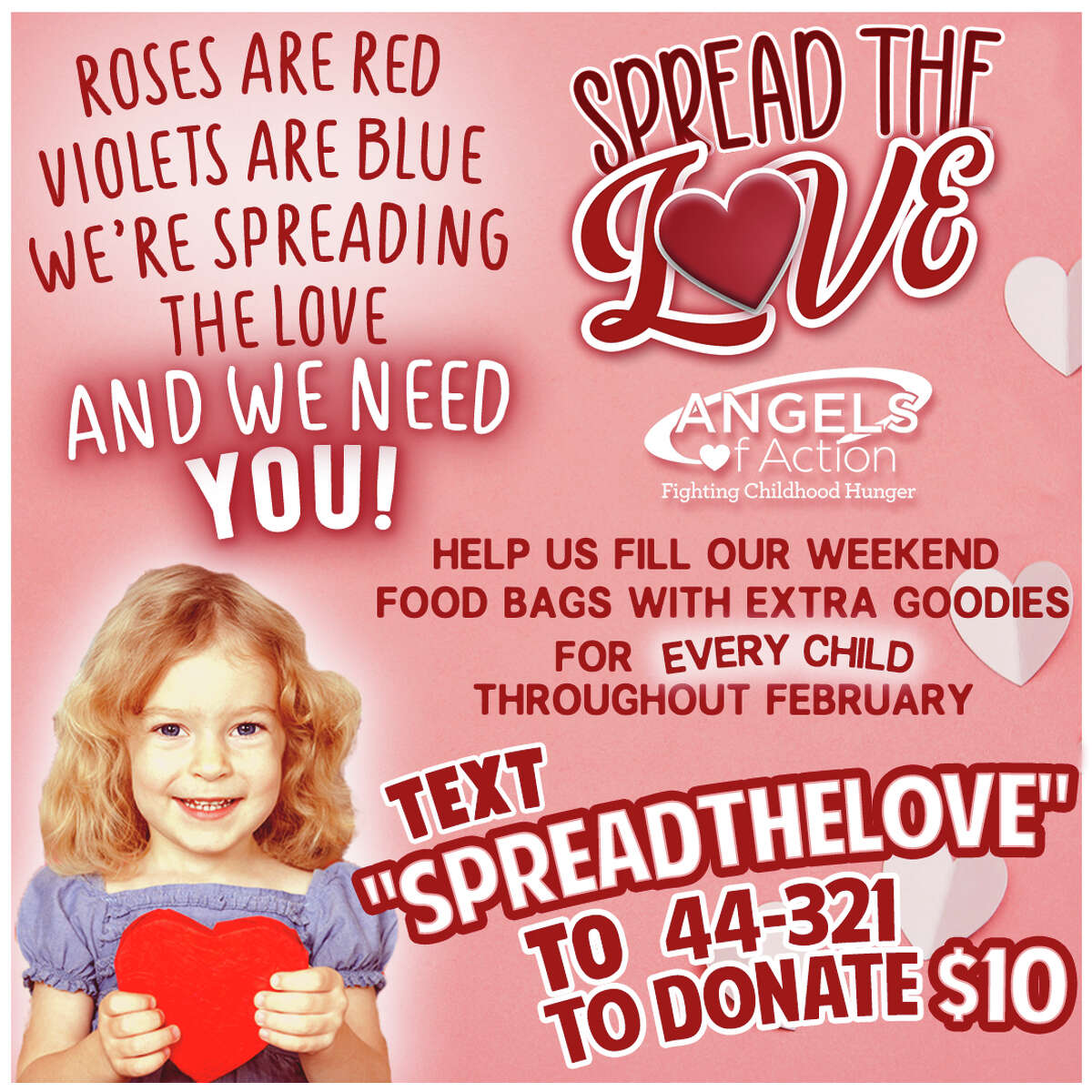 Starting in February, Angels of Action will be addiing some extra goodies to their food bags for area youth.