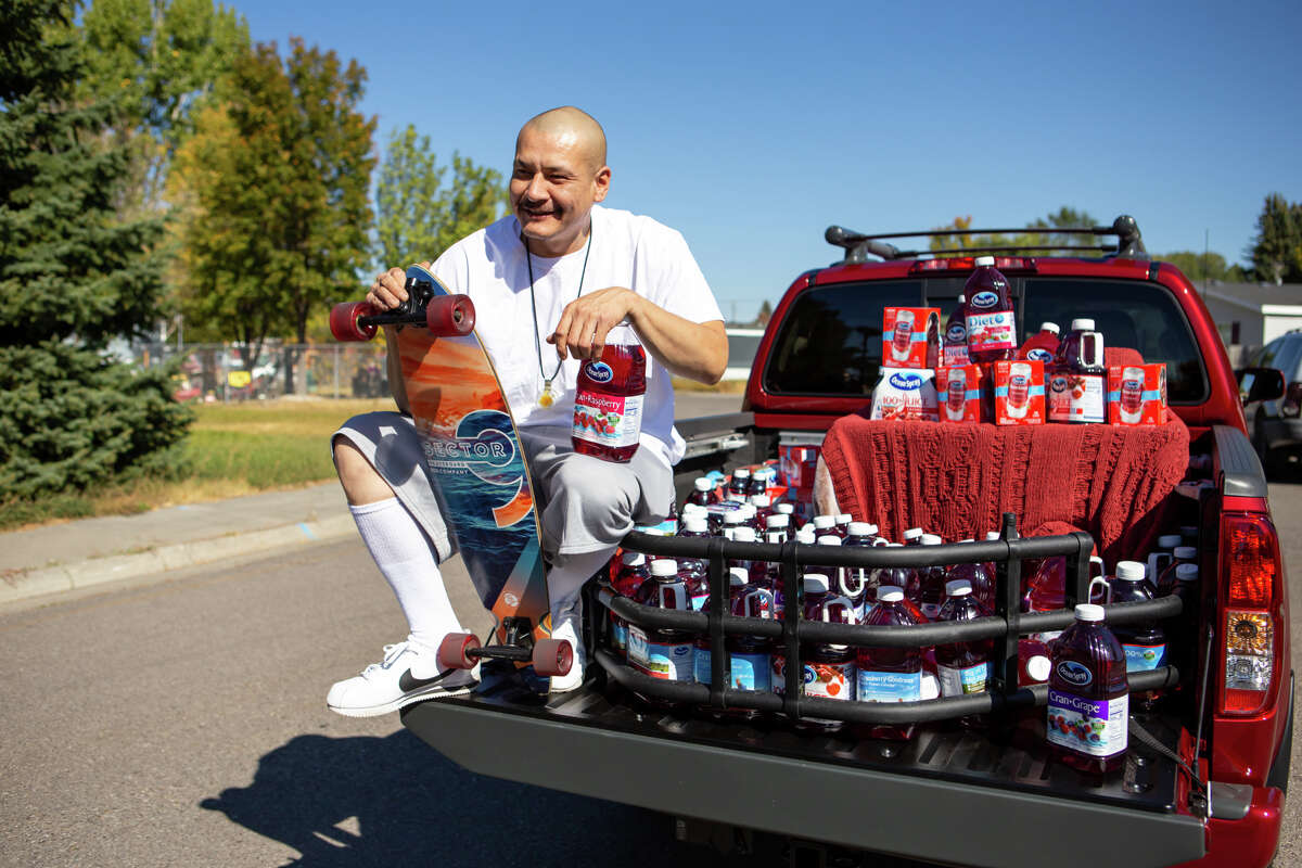 IDAHO FALLS, ID - OCTOBER 6: TikTok star Nathan Apodaca, aka 420doggface208, poses after being gifted a truck by Ocean Spray on October 6, 2020 in Idaho Falls, Idaho. (Photo by MEGA/Getty Images)