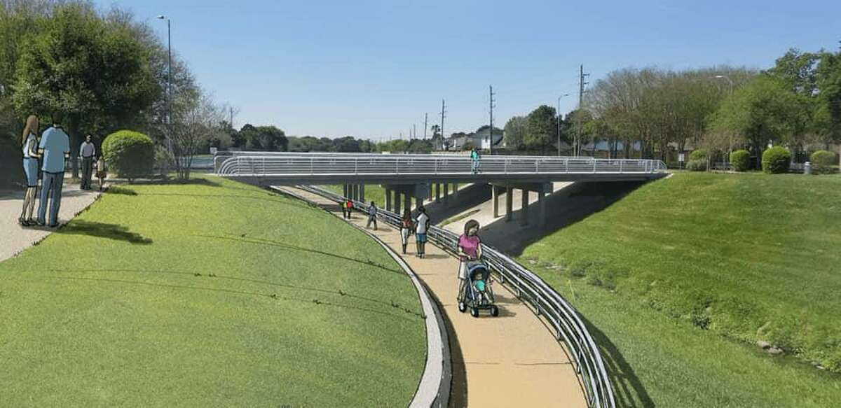 This rendering shows what the new underpass near LaCenterra will look like upon completion.