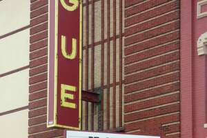 The Vogue Theatre on River Street in Manistee featured an encouraging message last spring. The theater's auditoriums are currently closed due to the pandemic. (File photo)