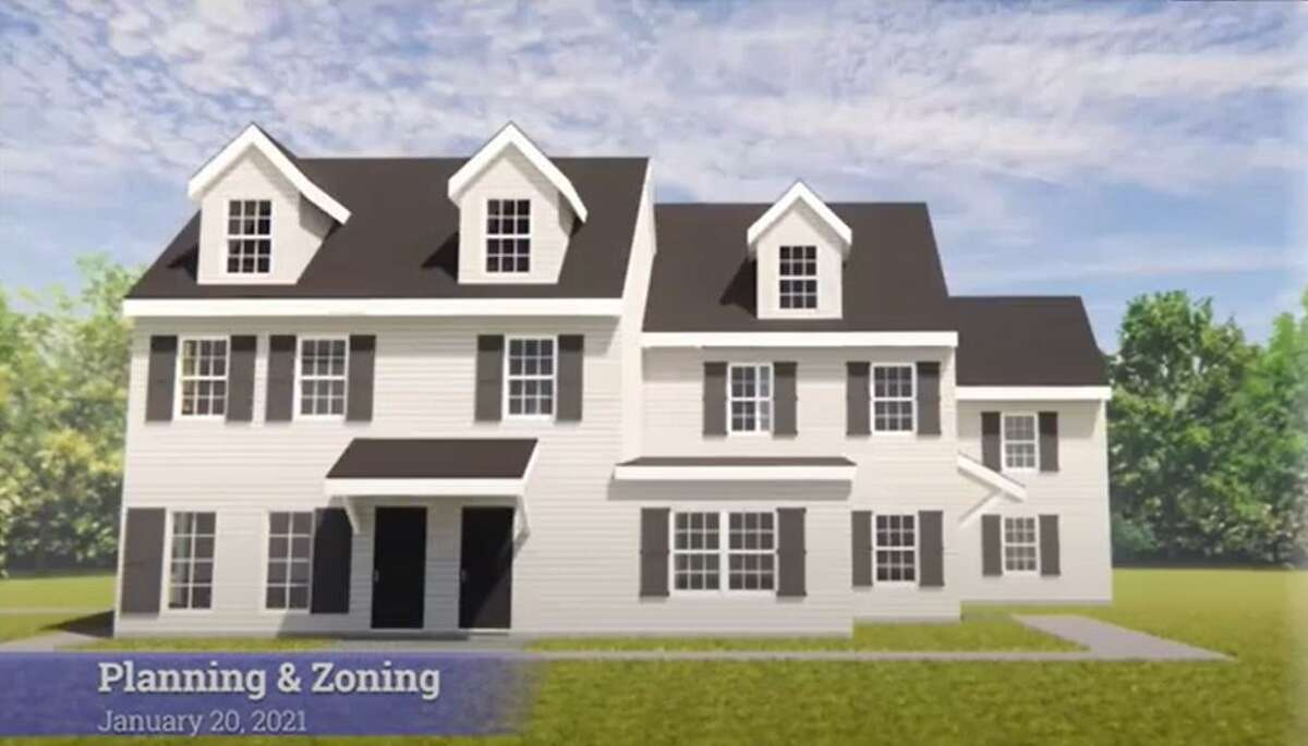 An artist rendering of the proposed renovated Hawley House, presented to the Trumbull Planning & Zoning Commission Jan. 20, 2021.