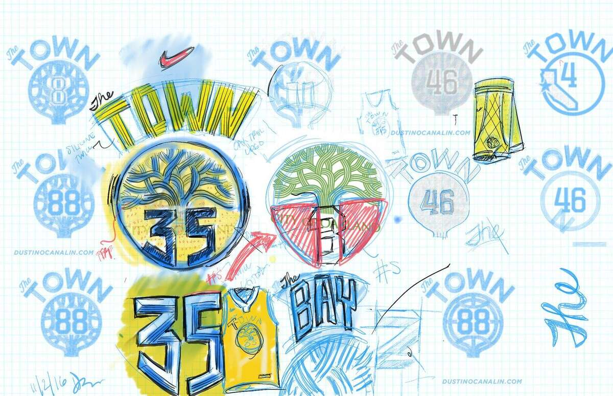 Dustin Canalin says he was the lead designer for the Warriors' The Town jerseys.