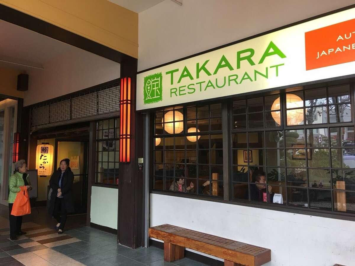 Takara Restaurant at 22 Peace Plaza, San Francisco, is permanently closing.