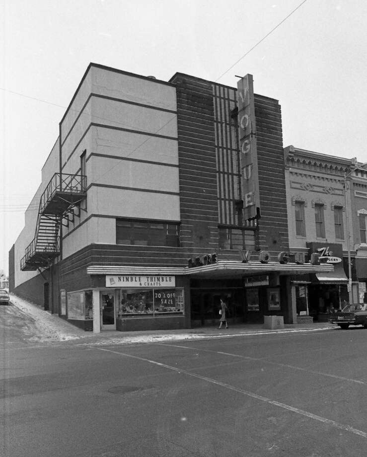 This photo shows a view of the Vogue Theatre in late January 1981. (Manistee County Historical Museum photo)