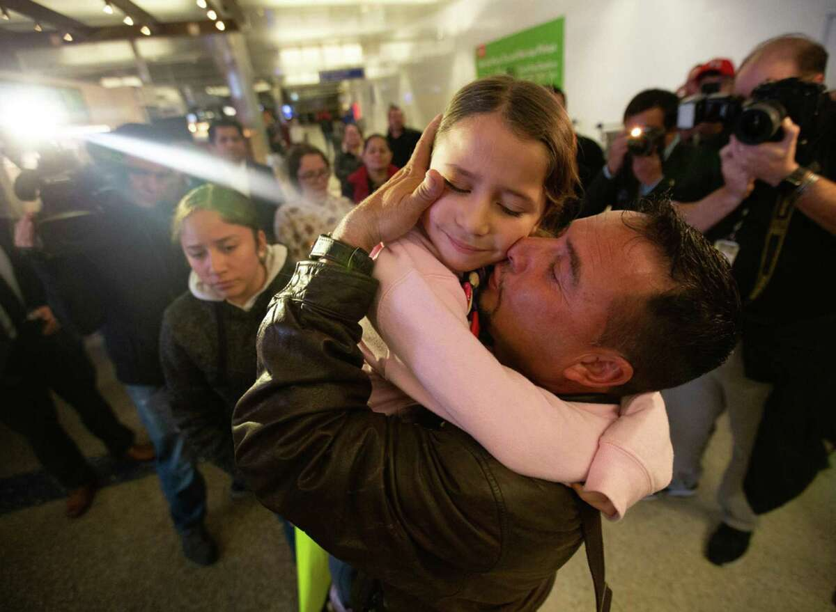 Father and daughter are reunited Jan. 22 in Los Angeles after they were separated under the Trump administration's zero-tolerance policy. President Joe Biden's immigration plan is much different and merits support.