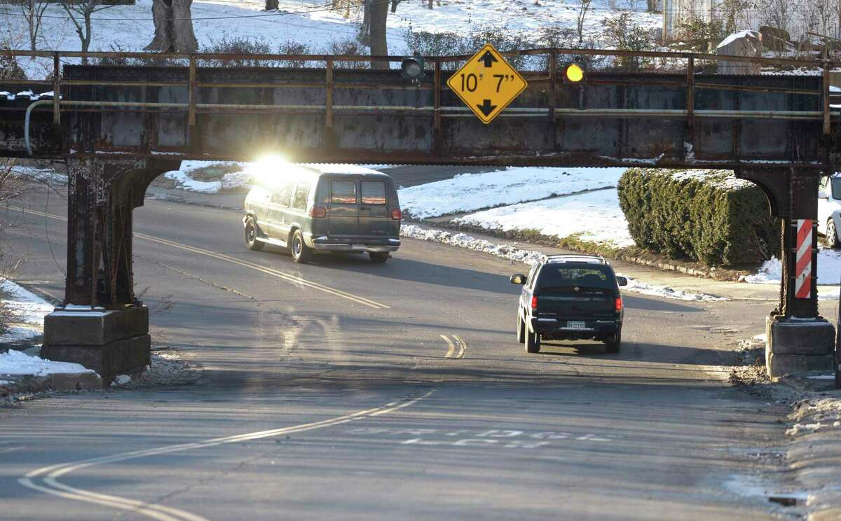 There is renewed interest in the Connecticut legislature in reopening the old commuter rail line from Danbury to Southeast, NY, to create a shortcut to Manhattan for Danbury commuters. Thursday, January 28, 2021, in Danbury, Conn. The train line crosses over West Street.