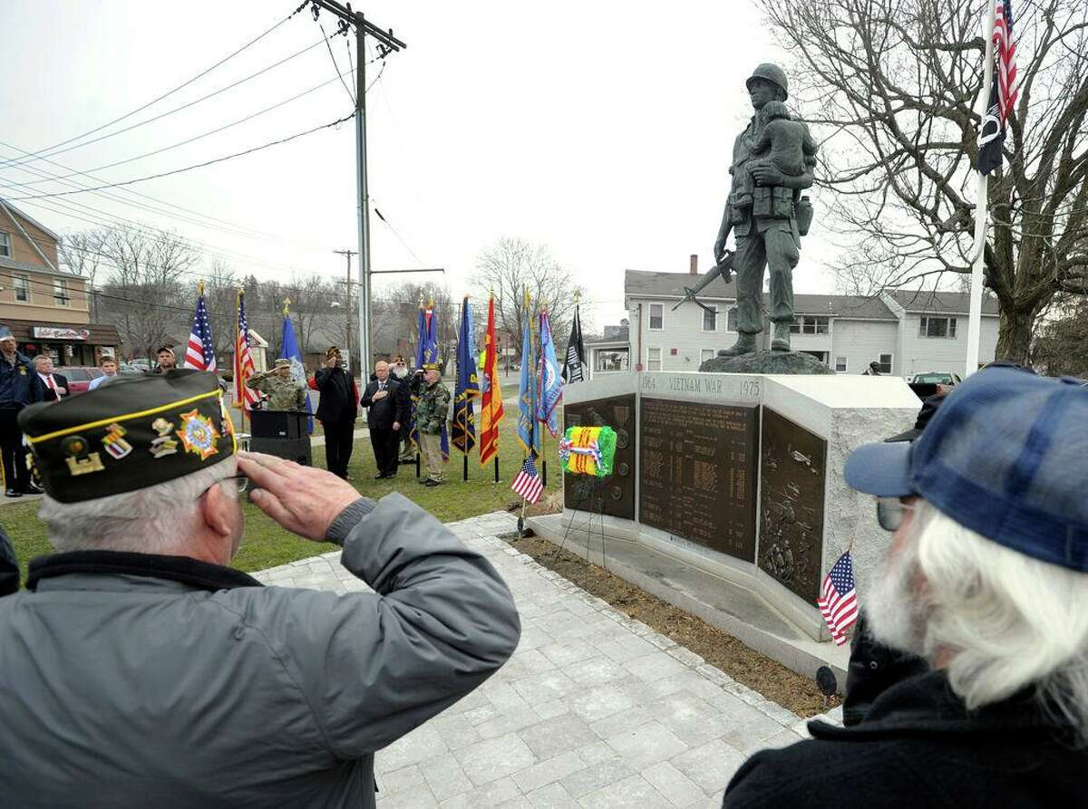 Vietnam veterans are remembered on Mar. 29, 2018, with a ceremony at the newly refurbished Vietnam War Memorial at Rogers Park in Danbury. March 29 is National Vietnam War Veterans Day. On that day in 1973 combat and combat support units withdrew from Vietnam.
