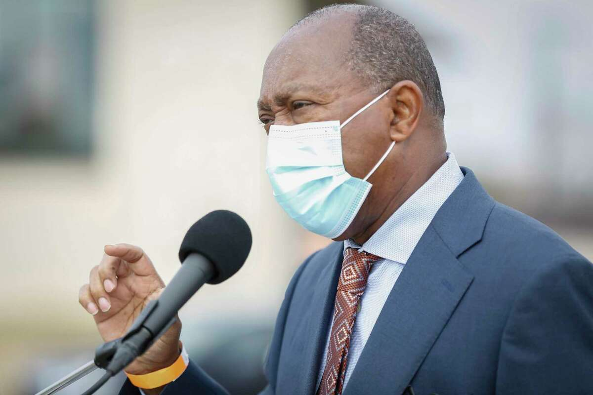 Mayor Sylvester Turner issued the mask mandate for city employees on Monday.