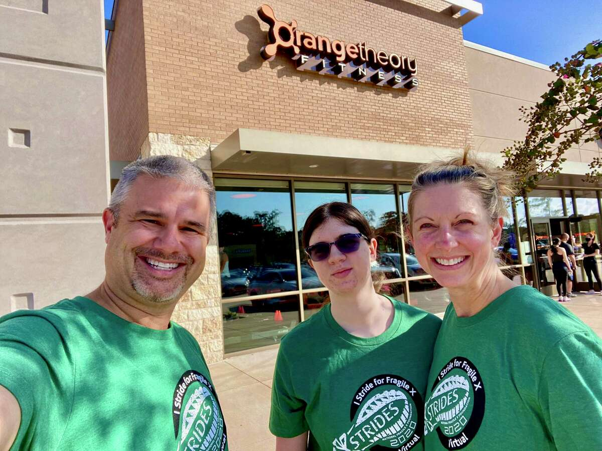 Caroline Bridges, the daughter ofWill and Laurie Bridges, found support for her Fragile X Syndrome through Orange Theory Fitness in Kingwood.