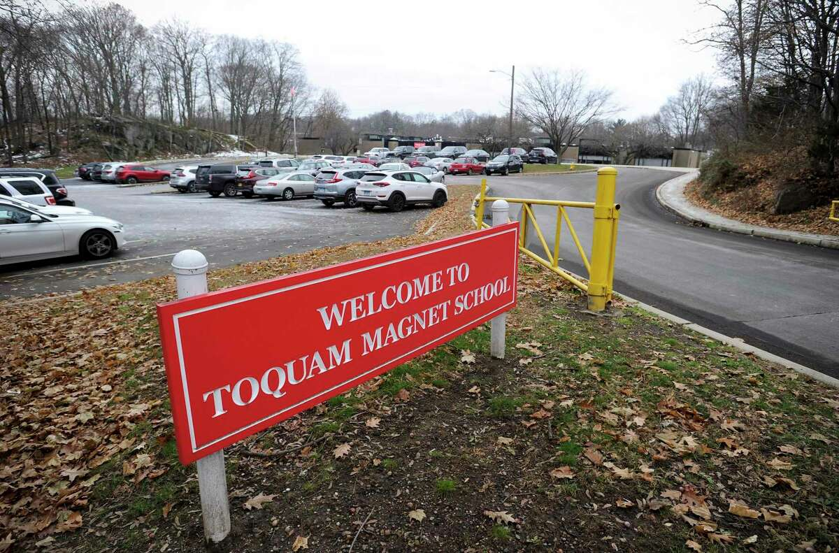 A sign for Toquam Magnet Elementary School, Dec. 4, 2019.
