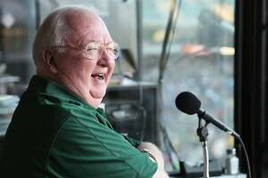 Dick Callahan, the longtime Bay Area sports public address announcer who voiced Oakland A's games at the Coliseum for 15 seasons, died Friday, the team announced.