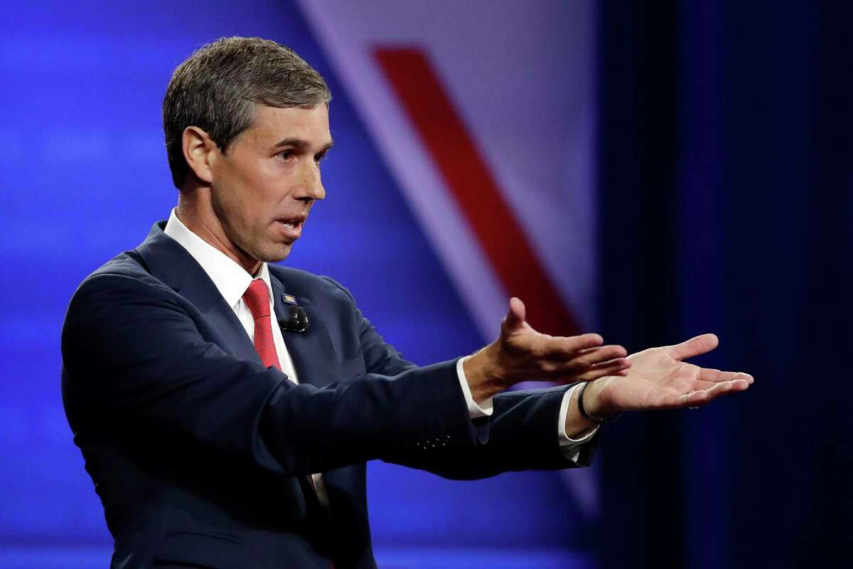 FILE PHOTO - Democratic presidential candidate former Texas Rep. Beto O'Rourke speaks during the Power of our Pride Town Hall Thursday, Oct. 10, 2019, in Los Angeles. The LGBTQ-focused town hall featured nine 2020 Democratic presidential candidates. (AP Photo/Marcio Jose Sanchez)