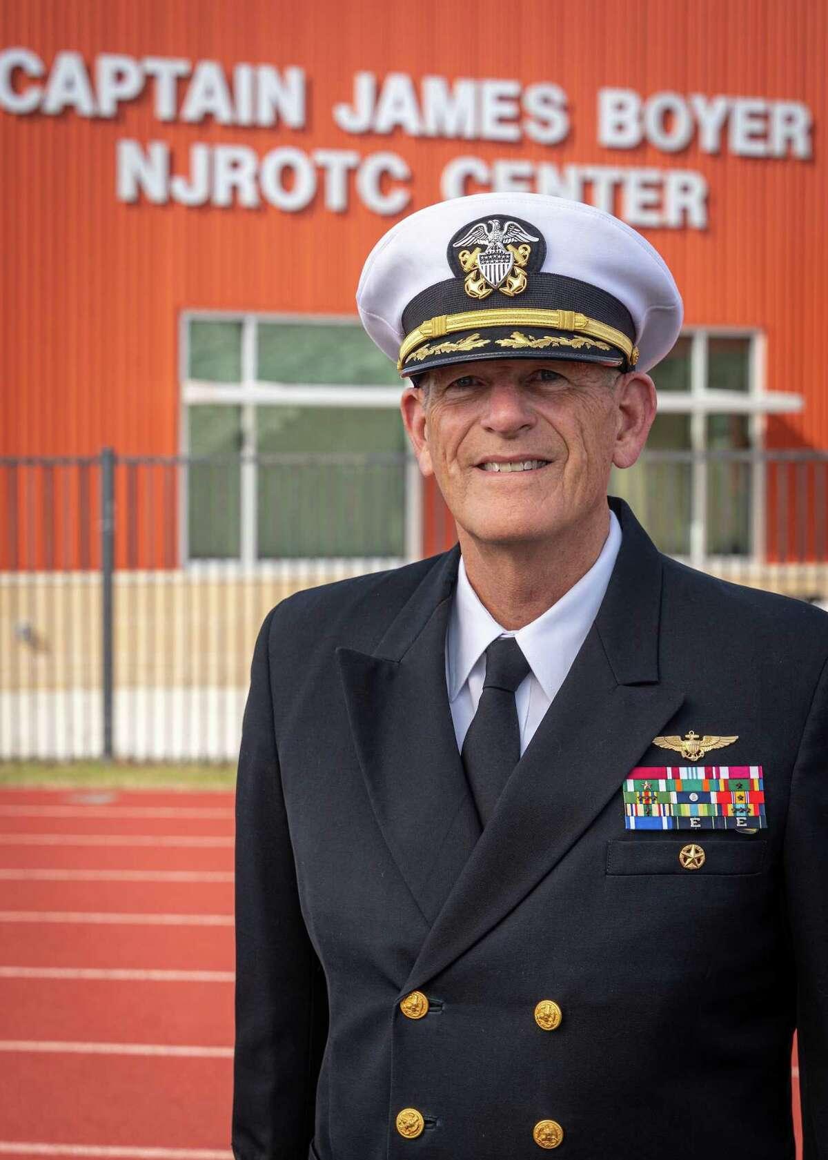 Retired U.S. Navy Capt. James Boyer, who recently retired from Spring ISD where he led the Navy JROTC program.