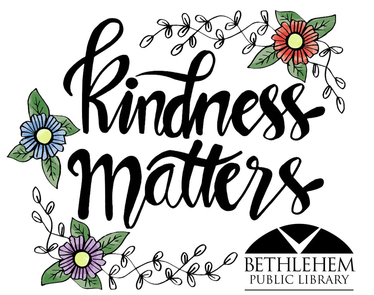 Bethlehem Public Library is spending the next few weeks sharing random acts of kindness intended to generate happiness within the community.